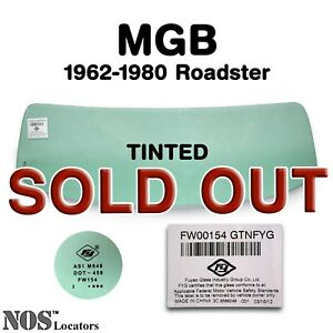 Mgb Mgc Roadster 1962 80 Tinted Windshield Glass New Pickup Only