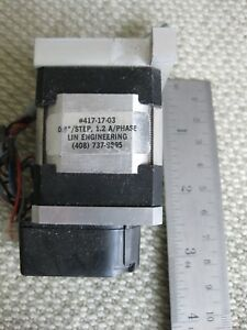 Lin Engineering 417 17 03 Step Motor 1 2 A phase Stepping Stepper Hp Encoder Usa