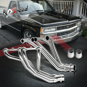 Stainless Steel Ss Exhaust Long Tube Header For 84 91 Chevy Gmt C K 5 0 5 7 Sbc