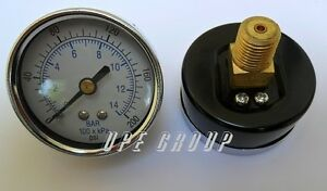 100 Pack Air Pressure Gauge 2 Face 200 Psi Back Mount 1 4 Npt Water Oil Gas