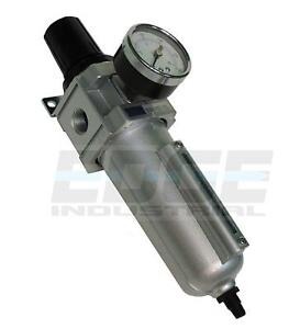 Heavy Duty Filter Regulator For Compressed Air Tubing Piping Compressor 1 2