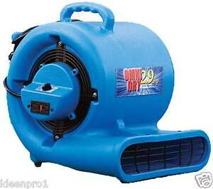 Air Mover Omnidry 2 9 Amp Stackable 1 3 Horse Power Restoration Ac25a