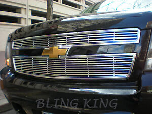 2007 2014 Chevy Tahoe Chrome Grille Insert Grill Overlay Horizontal Trim
