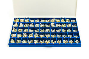 New Polycarbonate Temporary Dental Crowns Box Kit 360 Pcs With Paper Guide Chart