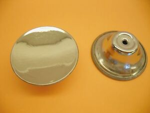 Vtg Round Chrome Cabinet Knobs Drawer Pulls Handles 1 15 16 Dia Concave Dished