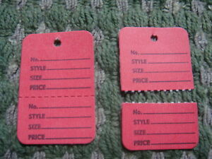 1000 Clothing Price Tagging Tags Tagger Gun Hang Label Red Full Box Paper