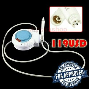 Dental Ultrasonic Piezo Scaler 5 Tips Fit Ems Woodpecker Handpiece E2 For Clean