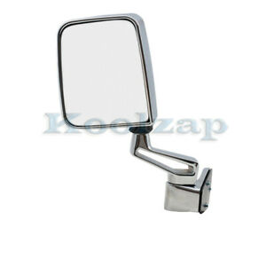 87 02 Jeep Wrangler Manual Chrome Folding Rear View Mirror Left Driver Side New