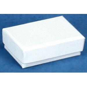 New 100 White Swirl Cotton Filled Jewelry Gift Ring Earring Boxes2 5