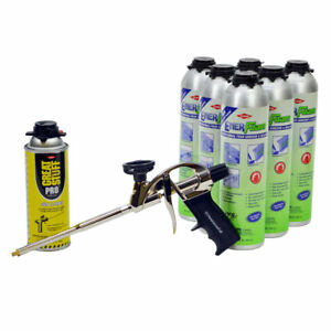Dow Enerfoam Adhesive Pro Foam Sealant Adhesive Lot 6 Plus Cleaner Foam Gun