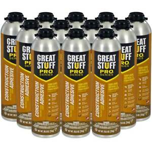 Dow Great Stuff Pro Wall And Floor Adhesive 26 5 Oz Gun Foam Case Of 12