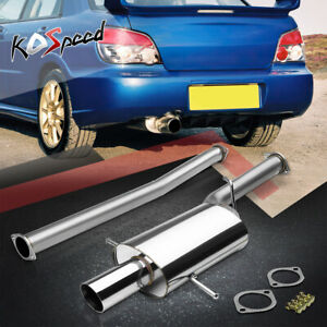 Stainless Steel 3 Oval Catback Exhaust System For 02 07 Subaru Impreza Wrx Sti