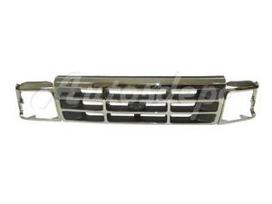 Bundle For 92 96 Ford F150 F250 Bronco Grille Headlight Door Chrome 3 Pcs