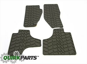 2008 2011 Jeep Liberty Set Of 4 Slush Mats Pebble Beige Mopar Genuine Oem New