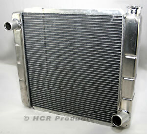 19 X 22 Aluminum Radiator High Performance Crossflow Gm Chevy Style Inlet Outlet