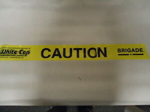 Case Of White Cap Caution Tape 3 X 1000 8 Rolls