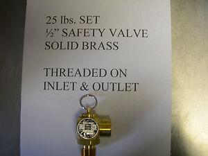 Fits Broaster solid Brass Safety Relief Valve All Mod Fits Henny Penny Fryer To