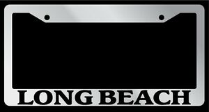 Chrome License Plate Frame Long Beach Auto Accessory 1532