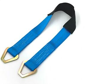 12 36 Axle Straps Blue For Hot Rod Muscle Car Trailer Tie Down Off Road 4x4