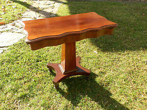 Beautiful Antique Victorian Empire Mahogany Console Games Table