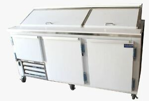 Coolman Commercial 2 1 2 Door Refrigerated Sandwich Prep Unit 72