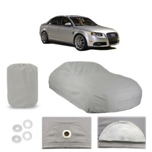 Audi A4 Quattro 5 Layer Car Cover Fitted Water Proof Outdoor Rain Snow Sun Dust