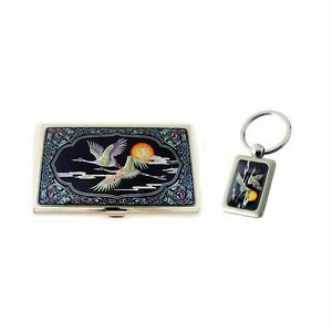 Mother Of Pearl Business Credit Id Card Holder Case Key Holder Gift Set 242