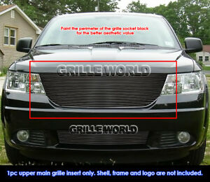 Fits 2009 2010 Dodge Journey Black Billet Main Upper Grille Insert
