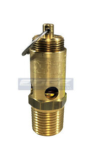 135 Psi Safety Relief Pop Off Valve For Air Compressor Tank Release 1 2 Npt