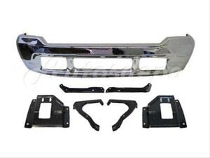 2000 2004 Ford Excursion Front Bumper Chrome Mounting Plate Support Bracket 7pcs