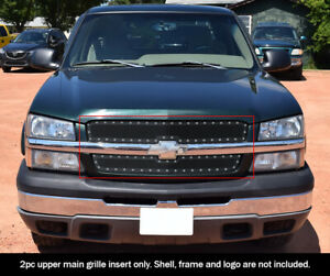 Fits 03 06 Chevy Avalanche 03 05 Silverado 1500 Ss 03 04 2500 Rivet Mesh Grille