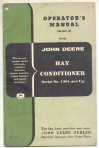 John Deere Hay Conditioner Manual