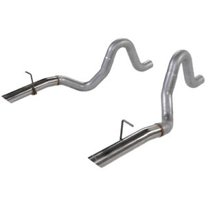 Flowmaster 1986 1993 Mustang Gt Lx 5 0l 3 Oem Tailpipe Set Stainless Tips 15820