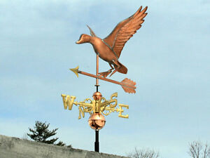 Sweet Duck Weathervane W Copper Balls Brass Directionals Made In The Usa 460s