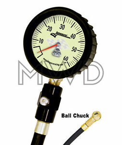 Deluxe Longacre Glow Tire Air Pressure Gauge 0 60 Psi 2 5 Imca Modified 50402