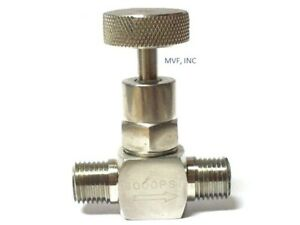 Needle Valve Mini 1 4 Male Npt 6000 Psi Stainless Metal Seats Nace Knob 561in06