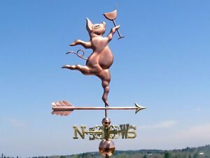 Copper Party Pig Weathervane Made In Usa 102