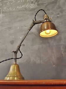 Vintage Industrial Desk Lamp Machine Age Task Light Cast Iron Steampunk