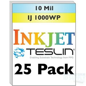 Inkjet Teslin Synthetic Paper For Making Pvc like Id Cards 25 Sheets