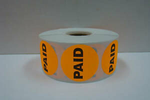 10 000 1 5 Round Orange Paid Retail Price Point Of Sale Stickers 10 Rolls Total