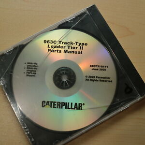 Cat Caterpillar 963c Track Crawler Loader Parts Manual Book Cd Catalog List 2005
