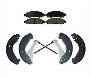 Front Ceramic Brake Pads Rear Brake Shoes For 2004 2008 Colorado Canyon