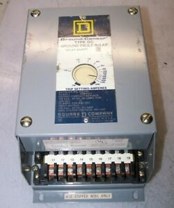 Square D Ground Fault Relay 600 Vac 50 Amp Model Gc 100