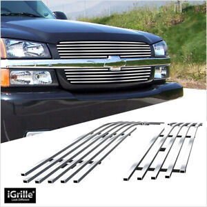 Fits 2003 2005 Chevy Silverado 1500 2003 2004 2500 Billet Main Upper Grille
