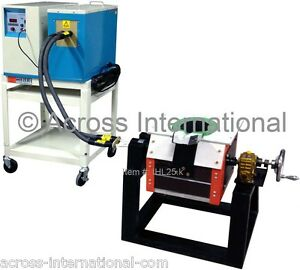 25kw Induction Heating Melting Furnace 1 20khz With Tilt pour Graphite Crucible