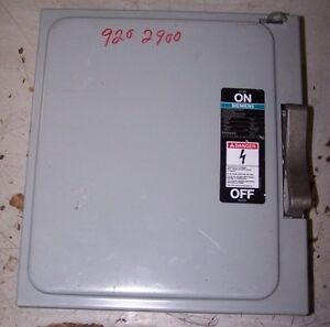 New Siemens Jf421 30 Amp Fusible Safety Switch 240 Vac 10 Hp 2 Phase 4 Pole