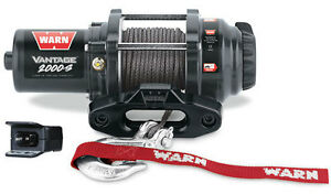 Warn Atv Side X Side Vantage 2000 s 12v Winch Synthetic Rope W Hawse Fairlead