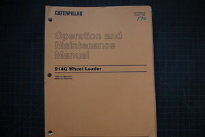 Cat Caterpillar 914g Wheel Loader Operation Maintenance Manual Guide Operator