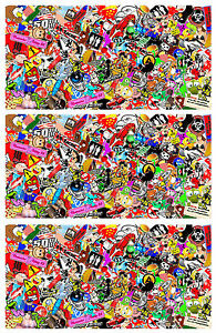 3 Sticker Bomb Sheets Jdm Honda Decal 15 X 30 Each 3m Wrap Vinyl Hd Gloss