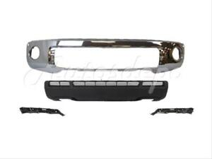 For 2010 2012 Tundra Front Steel Bumper Bar Chrome Valance Out Retainer W Hole